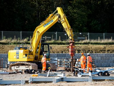 Activity at the onshore substation site