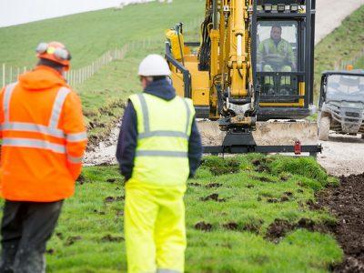 Topsoil removal at Tottington Mount