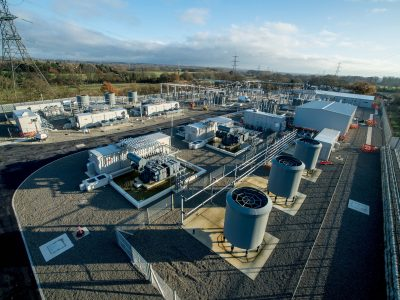 Aerial view of substation at Twineham