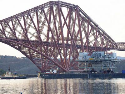 Video - Drone footage of Rampion topside sailing under the Forth Bridge (April 2017)