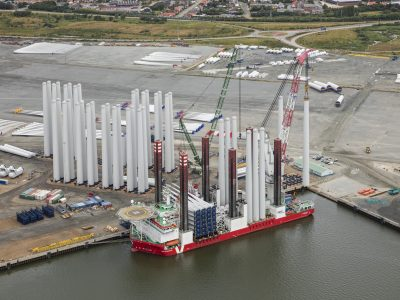 Aerial at the Port of Esbjerg