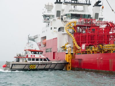 CTV docked at Fugro Symphony