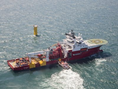 Fugro Symphony array cable installation vessel