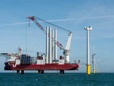 MPI Adventure installation turbine at Rampion