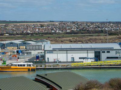 Rampion facility and pontoons